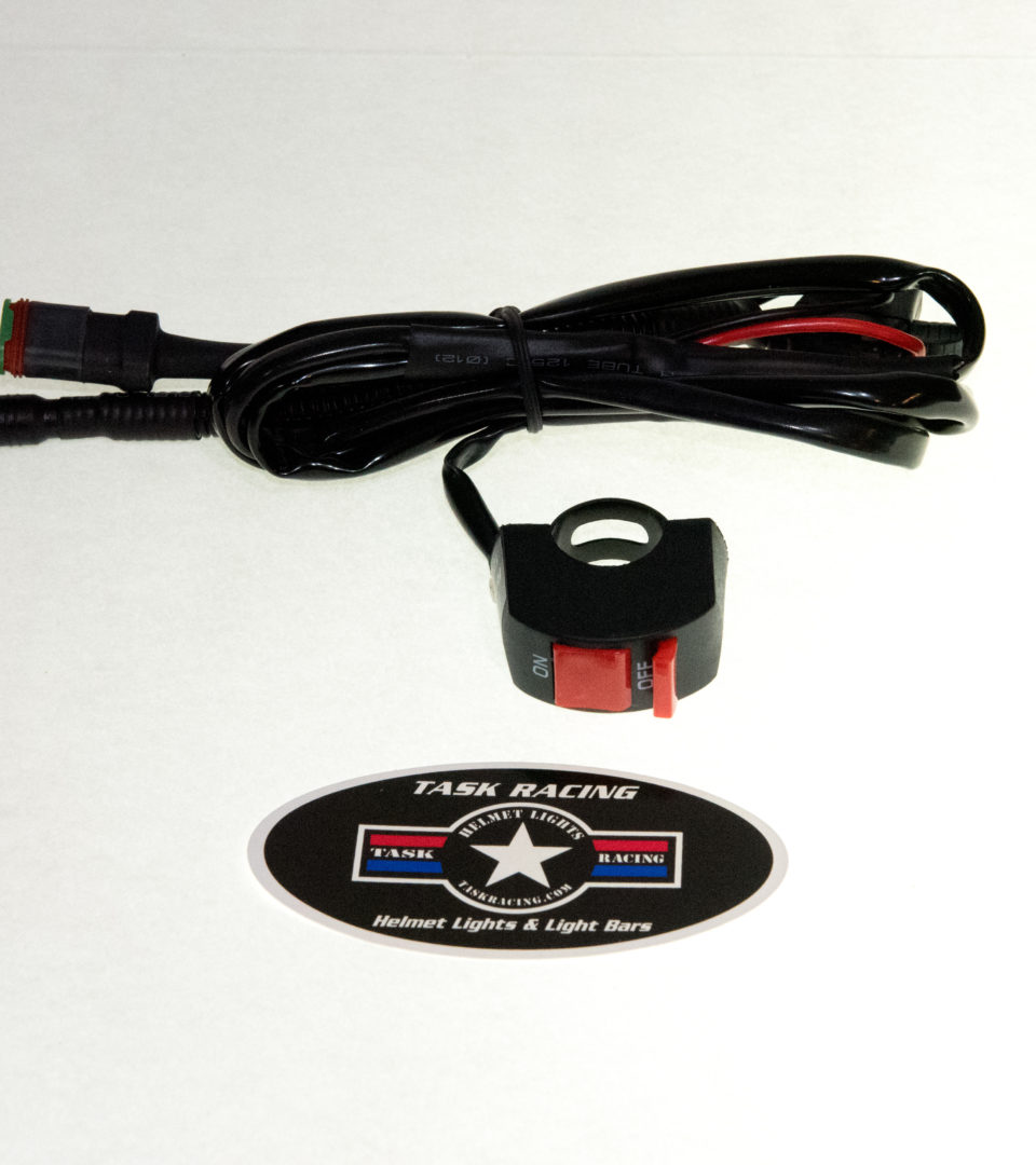 Extra 2 Task Go Pro Style Helmet Mount Tabs With Cord Clips 12v Wiring Harness Wire For Rechargeable Battery System